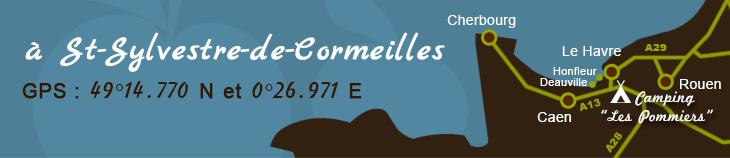 A Saint-Sylvestre-de-Cormeilles - Voir le plan d'accès