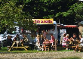 Food truck au camping les pommiers dans l'eure, entre Lisieux et Pont-audemer