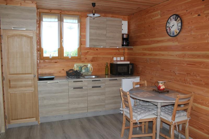 Chalet Cocon Pers Camping Les Pommiers Eure Pays D - Cuisine 14m2